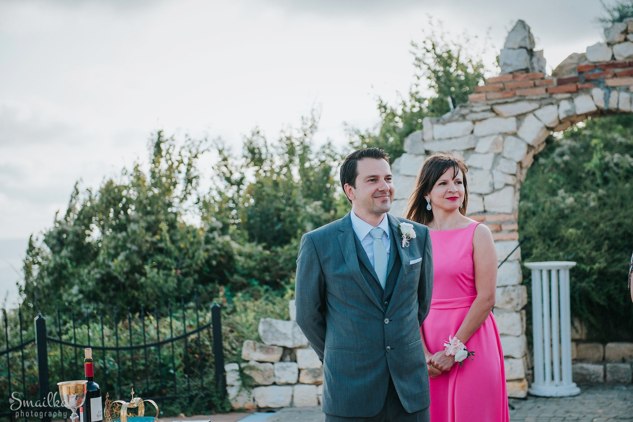 Portrait of groom and sister of the bride