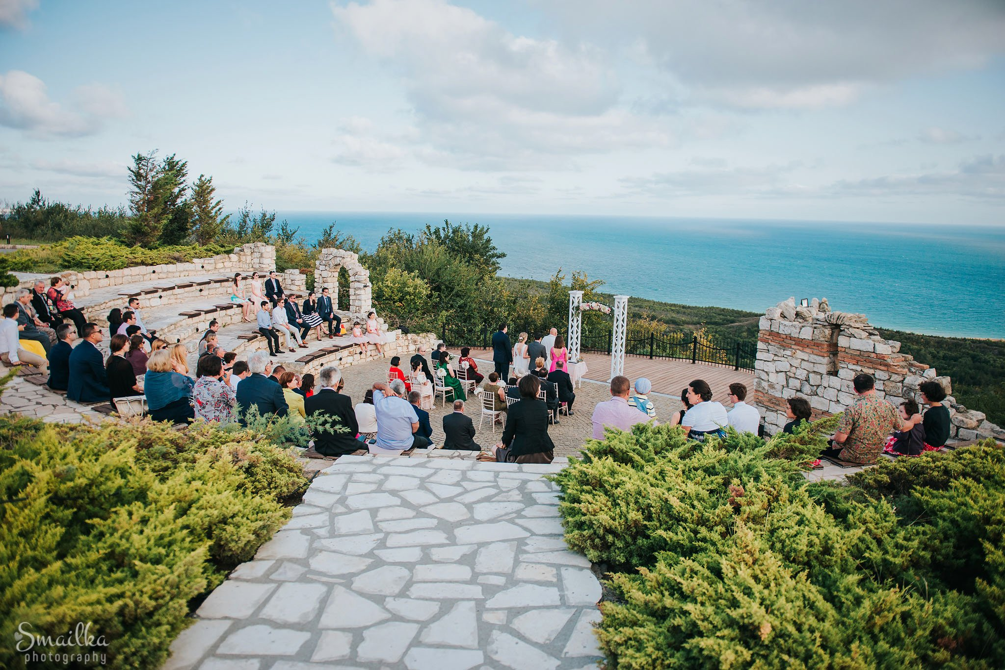 Wedding venue and the sea view at Black Sea Rama