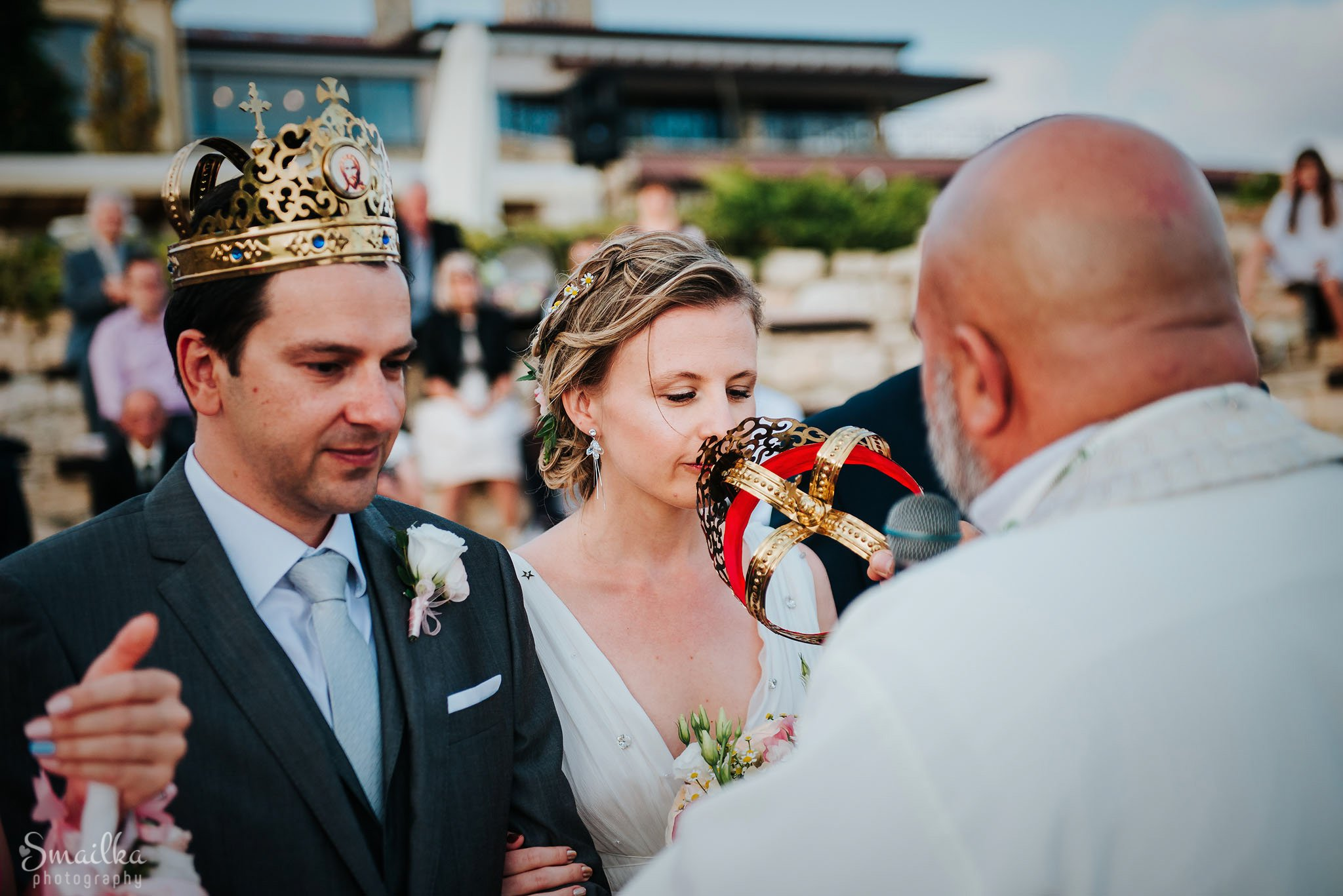 Wedding crowns at a wedding ceremony at Black Sea Rama