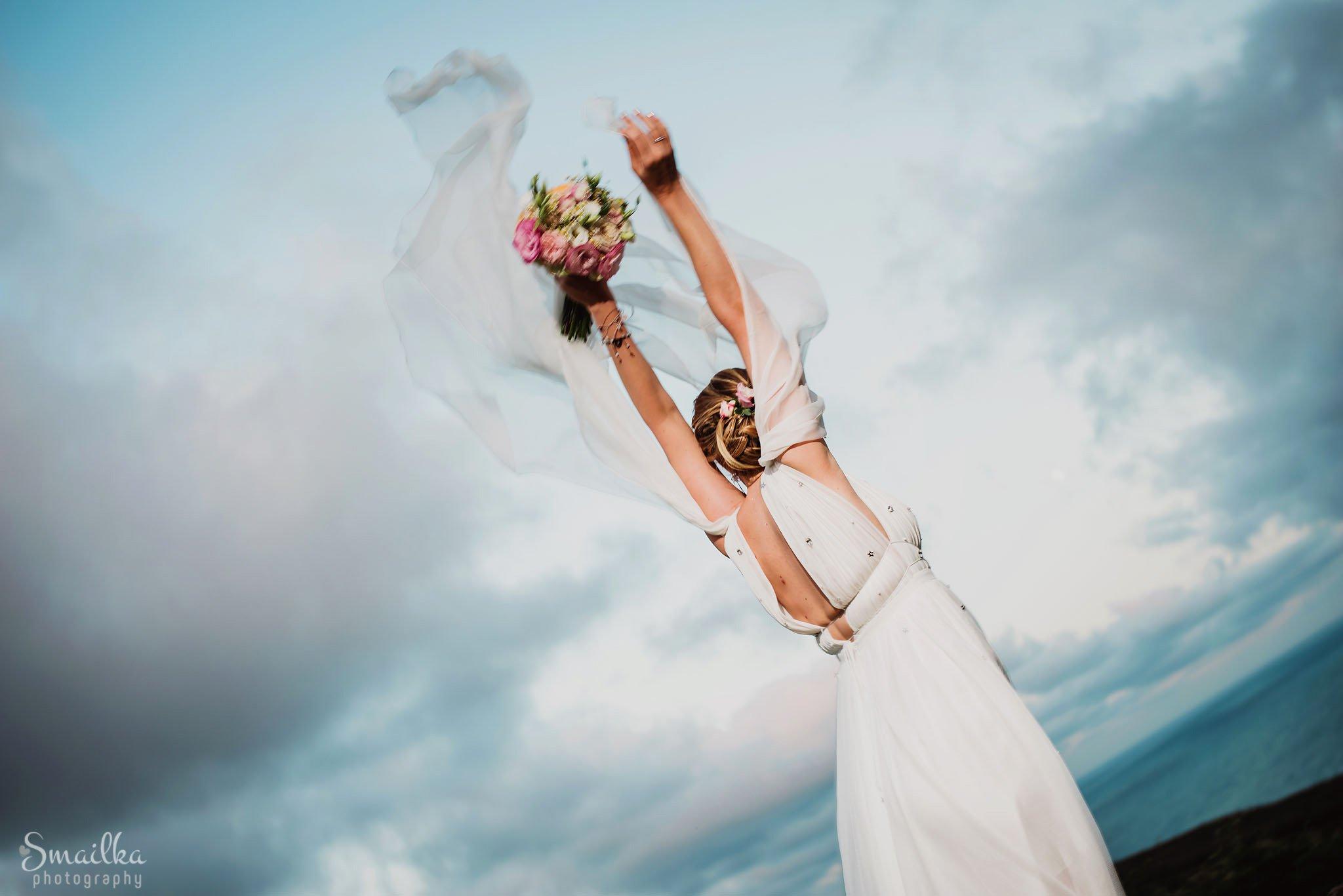 Happy bride at Black Sea Rama