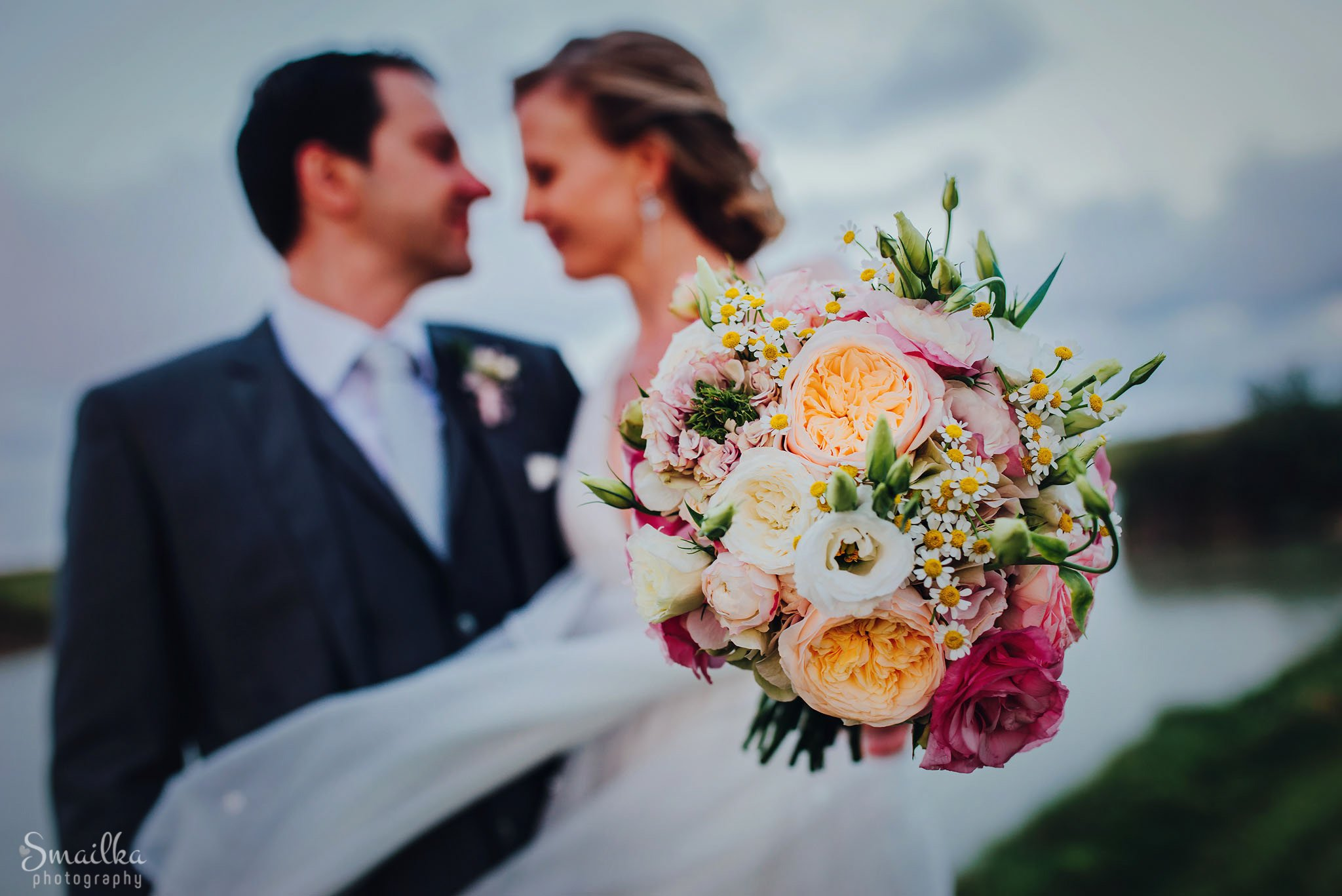 Wedding bouquet of fresh flowers
