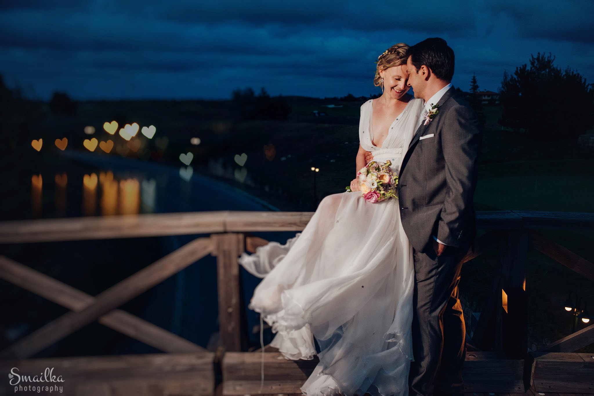 Wedding couple night photography at Black Sea Rama