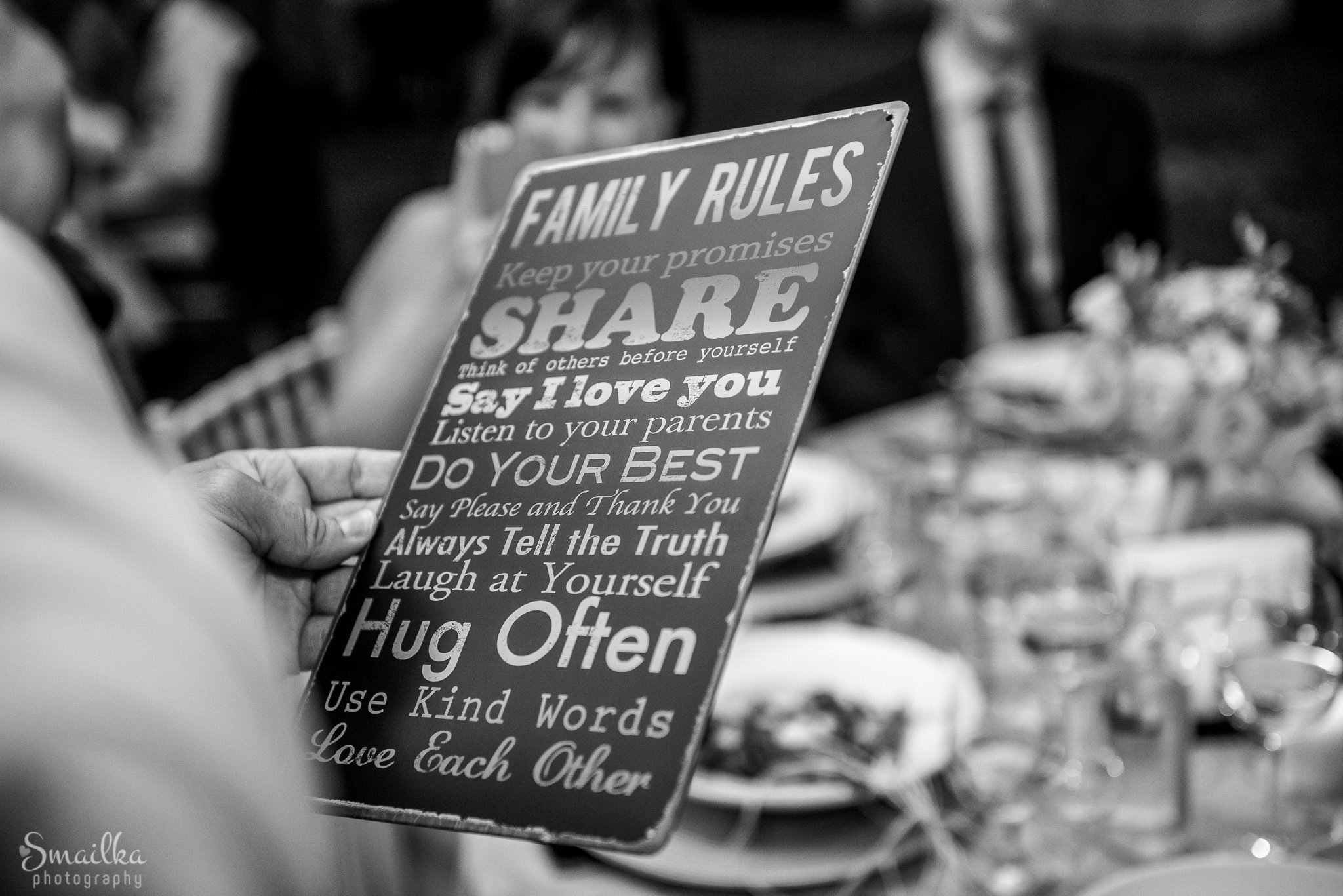 A photo of a family ruleset